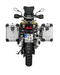 """ZEGA Evo aluminium pannier system """"And-S"""" 38/45 litres with stainless steel rack for BMW F850GS/ F850GS Adventure/ F750GS"""