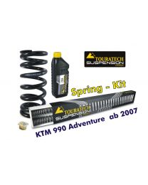 Touratech Progressive replacement springs for fork and shock absorber. KTM 990 Adventure from 2007