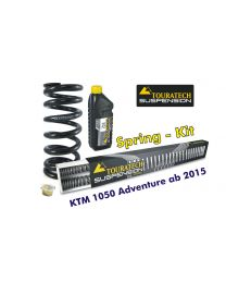 Touratech Progressive replacement springs for fork and shock absorber. KTM 1050 Adventure from 2015 replacement springs