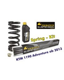 Touratech Progressive replacement springs for fork and shock absorber. KTM 1190 Adventure from 2013 (No EDS) replacement springs