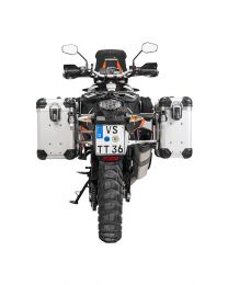 """ZEGA Evo aluminium pannier system """"And-S"""" 31/38 litres with stainless steel rack for KTM 1050 Adventure/1090 Adventure/1290 Super Adventure/1190 Adventure/1190 Adventure R"""