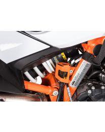 Touratech Rear brake fluid reservoir guard, orange for KTM 790 Adventure / Adventure R