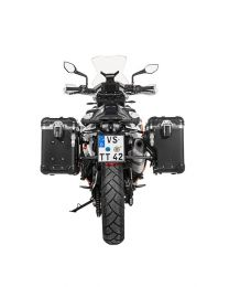 """Touratech ZEGA Evo X special system """"And-Black"""" 38/38 litres with stainless steel rack black for KTM 790 Adventure / Adventure R"""