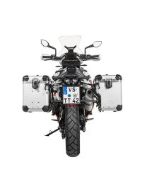 """Touratech ZEGA Evo X special system """"And-S"""" 45/45 litres with stainless steel rack black for KTM 790 Adventure / Adventure R"""