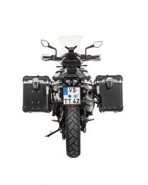 """Touratech ZEGA Evo X special system """"And-Black"""" 45/45 litres with stainless steel rack black for KTM 790 Adventure / Adventure R"""