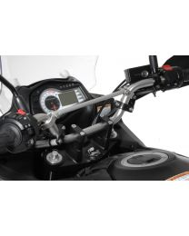 Touratech Handlebar extension. 30 mm. Type 3. black. for Suzuki DL 650/V-Strom 650/DL1000. KTM LC4