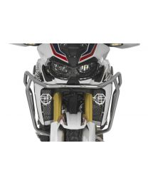 Touratech Headlight protector for LED auxiliary headlight Honda CRF1000L Africa Twin. anodised natural aluminium