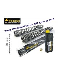Touratech Progressive fork springs for Honda CRF1000L Africa Twin Adventure Sports from 2018 -25mm lowering