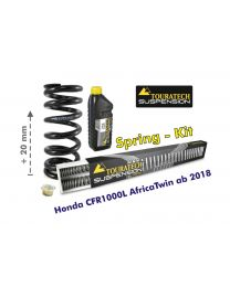 Touratech Progressive front and rear replacement springs for the Honda CRF1000L Africa Twin ab 2018 / +20mm height / Offroad Travel