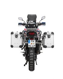 """ZEGA Evo aluminium pannier system """"And-S"""" 38/45 litres with stainless steel rack for Honda CRF1000L Africa Twin (2015-2017)"""