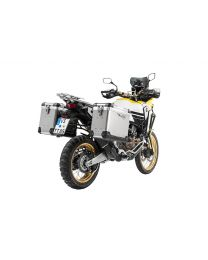 ZEGA Pro2 aluminium pannier system 38/45 litres with stainless steel rack. black for Honda CRF1000L Africa Twin (2018-) / CRF1000L Adventure Sports