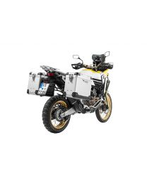 """ZEGA Pro2 aluminium pannier system """"And-S"""" 38/45 litres with stainless steel rack. black for Honda CRF1000L Africa Twin (2018-) / CRF1000L Adventure Sports"""