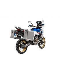 ZEGA Mundo aluminium pannier system 31/38 litres with stainless steel rack for Honda CRF1000L Africa Twin (2018-) / CRF1000L Adventure Sports