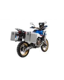ZEGA Mundo aluminium pannier system 38/45 litres with stainless steel rack for Honda CRF1000L Africa Twin (2018-) / CRF1000L Adventure Sports