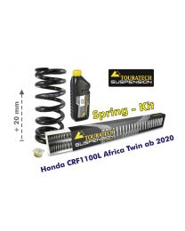 Progressive front and rear replacement springs for the Honda CRF1100L Africa Twin from 2020 / +20mm height / Offroad Travel