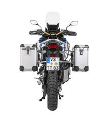 """Touratech ZEGA Pro aluminium pannier system """"And-S"""" 31/38 litres with stainless steel rack for Honda CRF1100L Adventure Sports"""