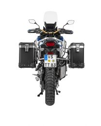 """Touratech ZEGA Pro aluminium pannier system """"And-Black"""" 31/38 litres with stainless steel rack for Honda CRF1100L Adventure Sports"""