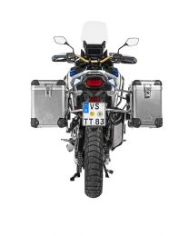 Touratech ZEGA Pro aluminium pannier system 38/45 litres with stainless steel rack for Honda CRF1100L Adventure Sports