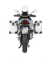 """Touratech ZEGA Evo aluminium pannier system """"And-S"""" 31/38 litres with stainless steel rack for Honda CRF1100L Adventure Sports"""