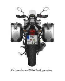 ZEGA Pro aluminium pannier system 31/31 litres with steel rack black for Honda NC700S/NC750S (2013-2015)/NC700X/NC750X (2013-2015)