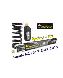 Touratech Progressive replacement springs for fork and shock absorber. Honda NC750X 2012-2015 *replacement springs*