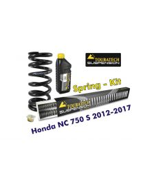 Touratech Progressive replacement springs for fork and shock absorber. Honda NC750S 2012-2017 *replacement springs*