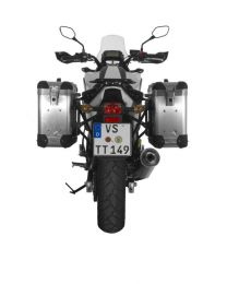 ZEGA Pro2 aluminium pannier system 31/31 litres with steel rack black for Honda NC700S/NC750S (2013-2015)/NC700X/NC750X (2013-2015)