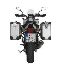 "ZEGA Pro2 aluminium pannier system ""And-S"" 31/31 litres with steel rack black for Honda NC700S/NC750S(2013-2015)/NC700X/NC750X(2013-2015)"