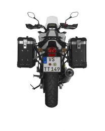 "ZEGA Pro2 aluminium pannier system ""And-Black"" 31/31 litres with steel rack black for Honda NC700S/NC750S(2013-2015)/NC700X/NC750X(2013-2015)"
