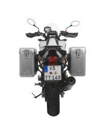 ZEGA Mundo aluminium pannier system 31/31 litres with steel rack black for Honda NC700S/NC750S (2013-2015)/NC700X/NC750X (2013-2015)