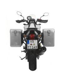 ZEGA Mundo aluminium pannier system 38/38 litres with steel rack black for Honda NC700S/NC750S (2013-2015)/NC700X/NC750X (2013-2015)