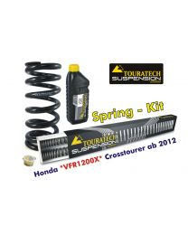 Touratech Progressive replacement springs for fork and shock absorber. Honda VFR1200X Crosstourer from 2012