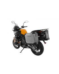 ZEGA Pro aluminium pannier system 31/31 liter with steel rack black for Kawasaki Versys 650 (2010-2014)