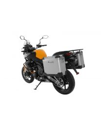"""ZEGA Pro aluminium pannier system """"And-S"""" 31/31 liter with steel rack black for Kawasaki Versys 650 (2010-2014)"""
