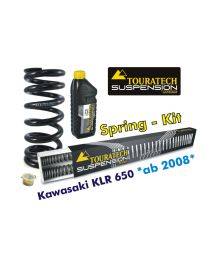 Touratech Progressive replacement springs for fork and shock absorber for Kawasaki KLR650 from 2008