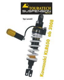 Touratech Suspension shock absorber for Kawasaki KLR650 from 2008 type Level2/Explore HP