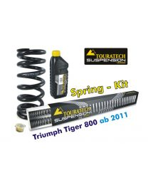 Touratech Progressive replacement springs for fork and shock absorber. Triumph Tiger 800 (2011-2014)*replacement springs*