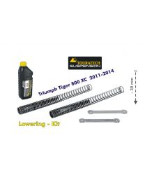 Touratech Height lowering kit 30mm for Triumph Tiger 800 XC 2011-2014 *replacement springs and reversing lever*