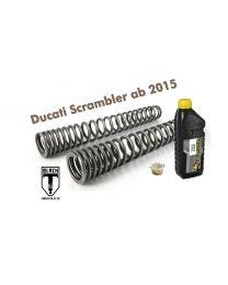 Touratech Progressive Black-T fork springs for Ducati Scrambler from 2015