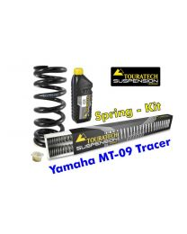 Touratech Hyperpro progressive replacement springs for fork and shock absorber. Yamaha MT 09 Tracer 2015-2016 replacement springs