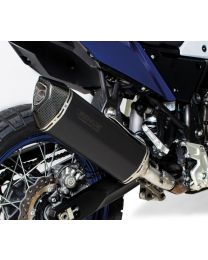 REMUS Black Hawk muffler slip on, stainless steel black, all street legal for Yamaha Tenere 700